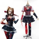 Cosplaydiy Women's Dress Batman Arkham Harley Quinn Cosplay Costume  For Christmas Party