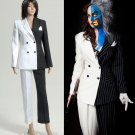 Cosplaydiy Women's Clothing  Batman Lady Two-Face Movie Cosplay Costume