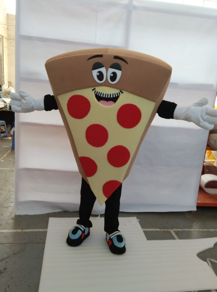 CosplayDiy Unisex Mascot Costume Pepperoni Pizza Mascot Costume Cosplay For Party