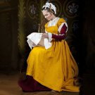 CosplayDiy Women's Yellow Vintage Medieval Clothing Traditional Central Europe Southern Belle Dress