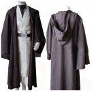 Cosplaydiy Men's Outfit Star Wars Old Obi Wan Kenobi Costume Movie Cosplay For Halloween Party