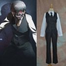 CosplayDiy Men's Outfit Tokyo Ghoul Ken Kaneki Uniform Outfit Cosplay For Halloween Party