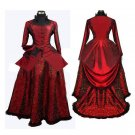 CosplayDiy Women's Red Medieval Gothic Renaissance Gown Ball Party Dress Cosplay