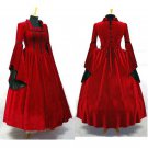 CosplayDiy Women's Meideval Victorian Renaissance Gothic Red Party Dress Cosplay