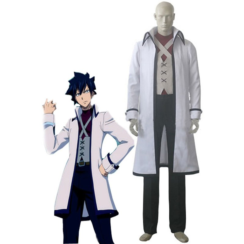 CosplayDiy Men's Outfit  Fairy Tail Gray Fullbuster Cosplay Costume For Party