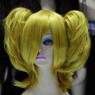 Women's Batman Harley Quinn Synthetic Short Golden Blonde Wig