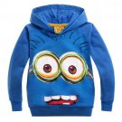 Cosplay Despicable Me 2 Kids' Minion Hoodie Blue Sweatshirt Cosplay