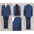 CosplayDiy Men's Outfit Doctor Who Dr Blue Suit Uniform Cosplay