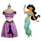 CosplayDiy Women's Dress Aladdin Jasmine Princess Purple Dress Cosplay For Party