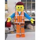 CosplayDiy Unisex Mascot Costume Lego Emmet Mascot Costume Cosplay For Halloween