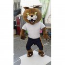 CosplayDiy Unisex Mascot Costume Bethel University Wildcat Mascot Costume For Party