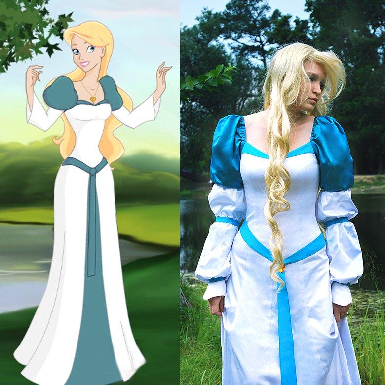 sc 1 st  CosplayDiy - eCRATER & CosplayDiy Womenu0027s Dress Odette Swan Princess Dress Cosplay For Party