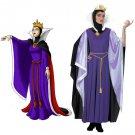 Cosplaydiy Women's Dress Snow White Evil Queen Dress Costume Cosplay For Halloween