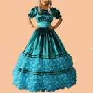 CosplayDiy Women's Dress Green Gothic Lolita Civil War Southern Belle Dress Cosplay