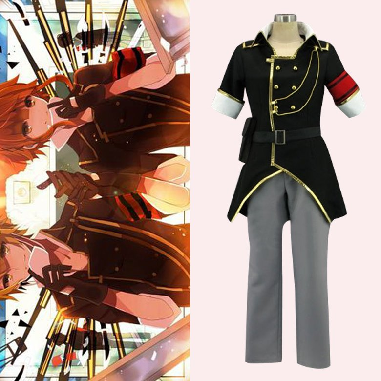 CosplayDiy Women's Outfit Vocaloid Len World Domination Halloween Uniform Cosplay