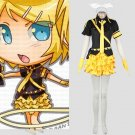 CosplayDiy Women's Dress Vocaloid Rin Kagamine Black Uniform Cosplay For Christmas Party