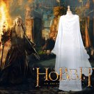 Cosplaydiy Women's Dress Lord of the Rings The Hobbit Lady Galadriel White Dress Cosplay