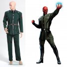 Cosplaydiy Men's Costume Captain America Red Skull Costume Cosplay For Halloween Party