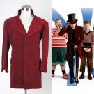 Cosplaydiy Men's Outfit Charlie  the Chocolate Factory Johnny Depp Willy Wonka Jacket  Cosplay