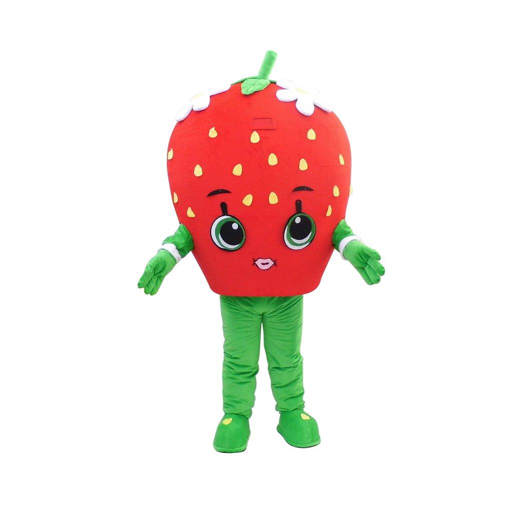 CosplayDiy Unisex Mascot Costume Fruit Strawberry Cute Mascot Costume For Christmas Party