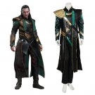 Cosplaydiy Men's Outfit The Avengers Loki Cosplay Costume For Halloween