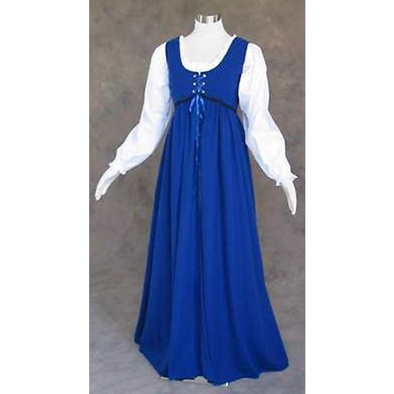 CosplayDiy Women\'s Victorian Medieval Renaissance Larp Blue Adult ...