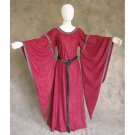 CosplayDiy Women's Medieval Bell Sleeve Red Dress Victorian Period Costume For Halloween