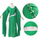 CosplayDiy Women's Green Victorian Renaissance Medieval Wedding Dress Cosplay