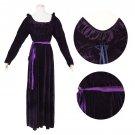 CosplayDiy Women's Dark Purple Medieval Renaissance Halloween Dress Cosplay