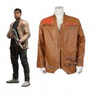 Cosplaydiy Men's Clothing Star Wars The Force Awakens Finn Leather Jacket Cosplay For Halloween