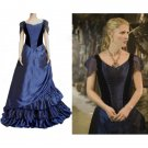 Cosplaydiy Women's Dress Stardust Yvaine Blue Gown Dress Cosplay  For Christmas Party