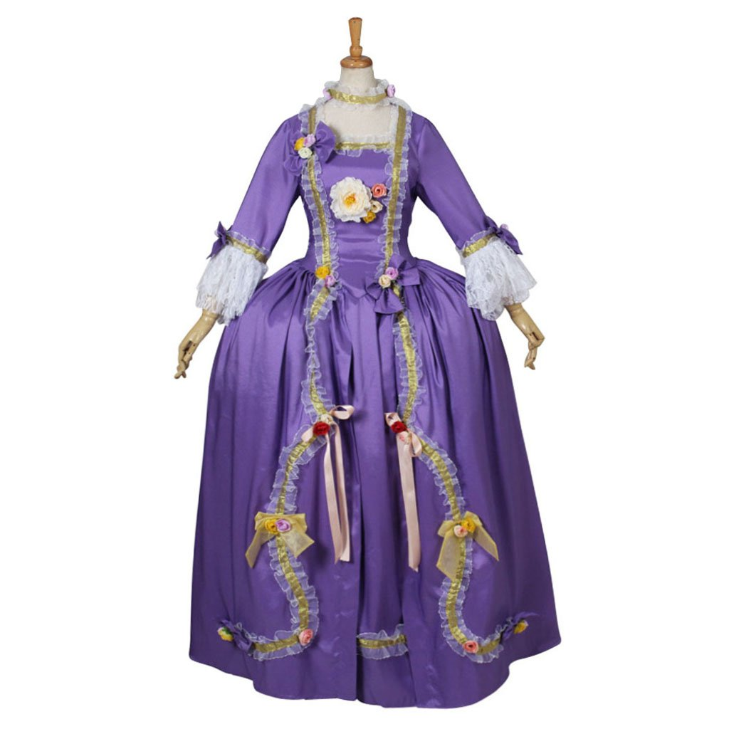 CosplayDiy Women's Purple Rococo Style Medieval ...