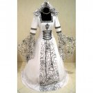 CosplayDiy Women's Medieval Victorian Renaissance Gothic Wedding Dress Halloween Costume Cosplay