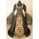 CosplayDiy Women's Black Wedding Dress Medieval Renaissance Victorian Halloween Dress Cosplay