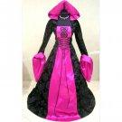 CosplayDiy Women's Black&Rose Wedding Dress Medieval Renaissance Costume Halloween Cosplay