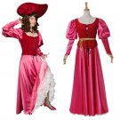 Cosplaydiy Vintage Medieval Women's Dress Pirates of the Caribbean Women's Rose Cosplay