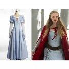 Cosplaydiy Women's Medieval Dress Red Riding Hood Valerie Costume Renaissance Halloween Cosplay