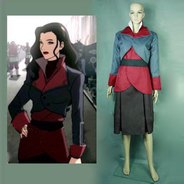 CosplayDiy Women's Outfit The Legend of Korra Asami Sato Costume Outfit  Cosplay