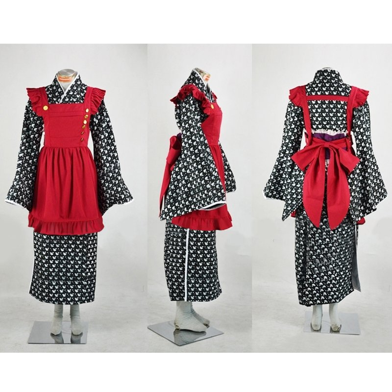 AMNESIA Heroine Kimono Custom Made Women's Outfit  Working Costume Halloween Outfit Cosplay