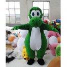 CosplayDiy Unisex Mascot Costume Super Cute Adult Mario Yoshi Mascot Costume Cosplay