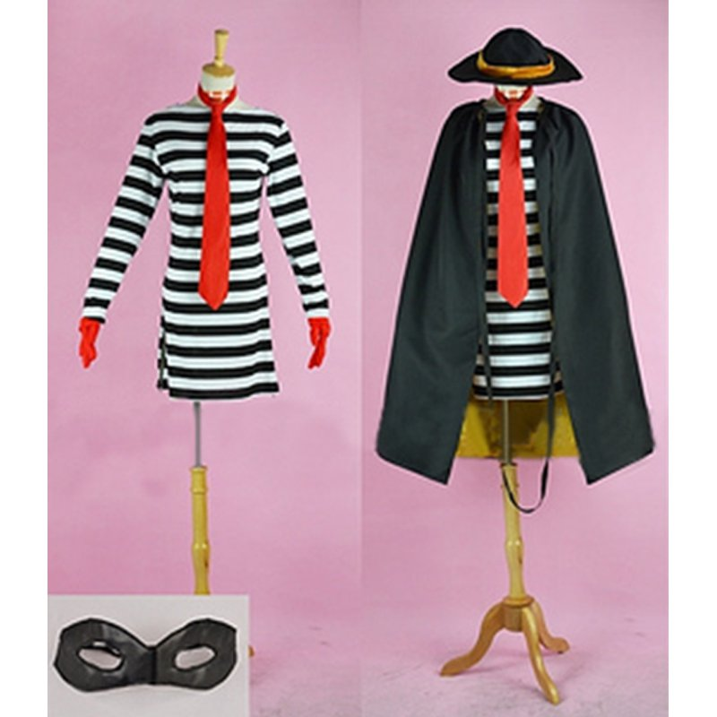 cosplaydiy womens clothing mcdonald hamburglar costume convention halloween cosplay