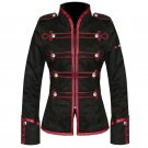 Custom Made Black Red My Chemical Romance Ladies Military Jacket For Halloween Cosplay