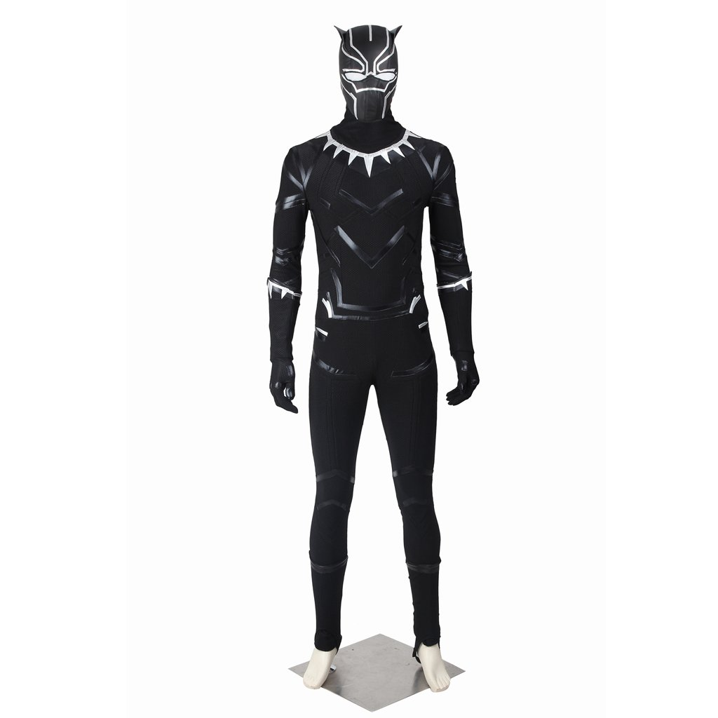 Cosplaydiy Men's Custome Captain America: Civil War Black Panther Cosplay For Halloween