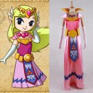 Princess Zelda Dress Cosplay The Legend Of Zelda  Adult's Costume for Carnival Party