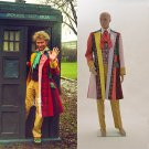 CosplayDiy Men's Outfit Doctor Who Series 6th Sixth Dr Colorful Lattice Stripe Costume Cosplay