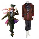 Cosplaydiy Men's Outfit Alice in Wonderland Mad Hatter Cosplay Costume Halloween Party Outfit