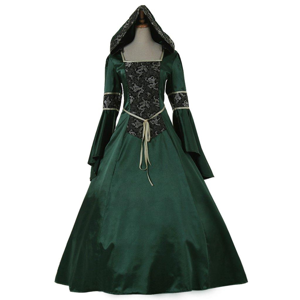 CosplayDiy Women's Elegant Green Medieval Renaissance ...