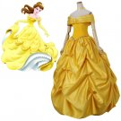 CosplayDiy Women's Dress  Beauty And Beast Princess Belle Dress Cosplay Costume