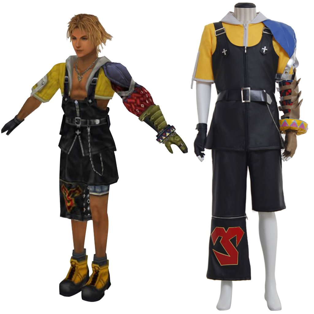 CosplayDiy Men's Outfit  Final Fantasy 10 Tidus Cosplay Costume For Halloween Party