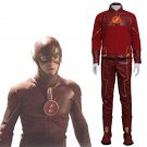 Cosplaydiy Men's Outfit The Flash Barry Allen Cosplay Costume For Christmas Party